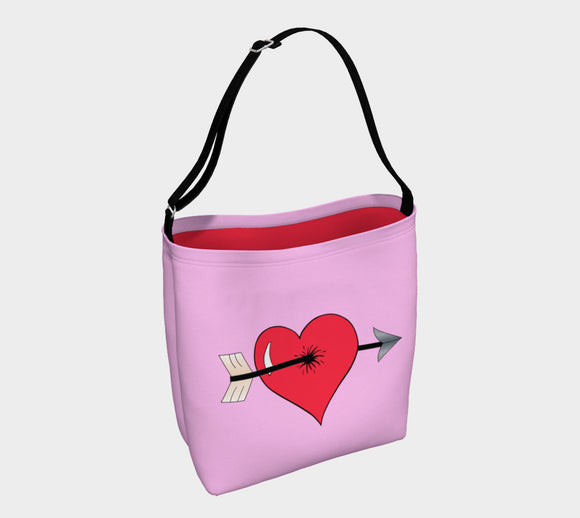 Struck by Cupid's Arrow Tote Bag