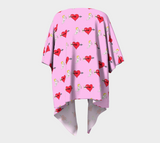 Struck by Cupid's Arrow Draped Kimono