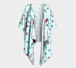 Under the Sea Draped Kimono