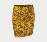Giraffe Fitted Skirt
