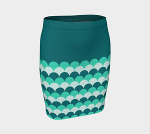 Mermaid Scales Fitted Skirt