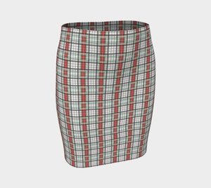 Classic Plaid Fitted Skirt