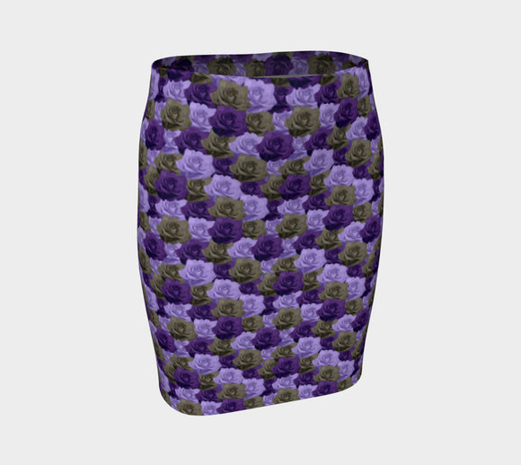 Roses Fitted Skirt