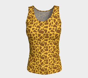 Giraffe Fitted Tank Top (Long)
