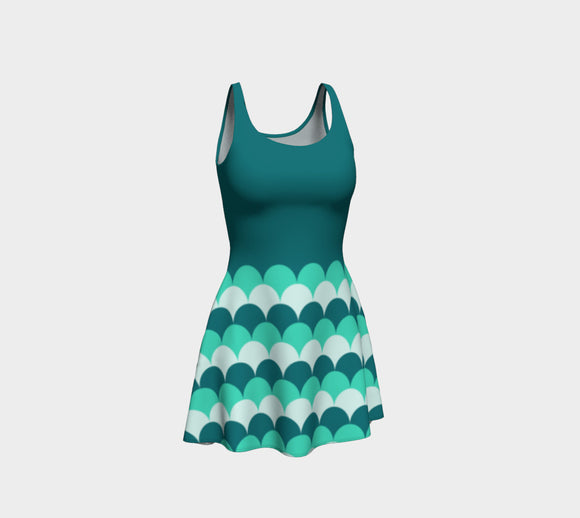 Mermaid Scales Flare Dress