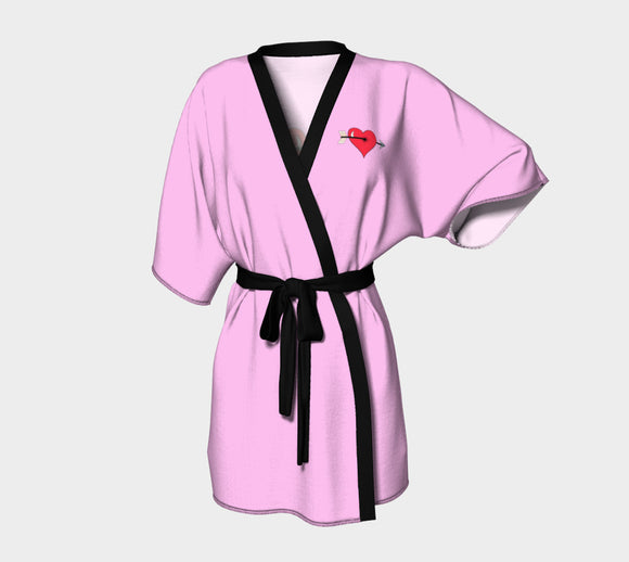 Struck by Cupid's Arrow Kimono Robe