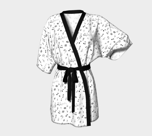 Listen to the Music Kimono Robe