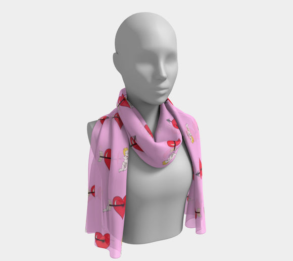 Struck by Cupid's Arrow Long Scarf