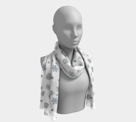 Snowflakes Long Scarf