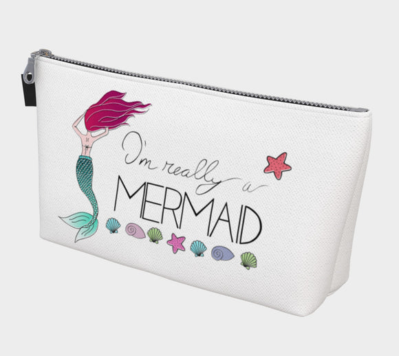 I'm Really a Mermaid Makeup Bag