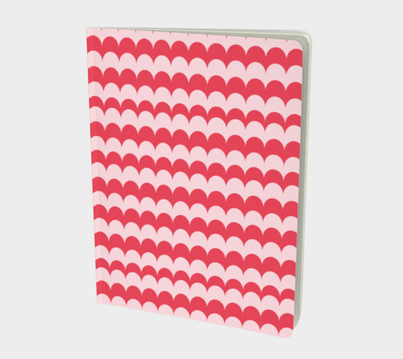 Pink Scallop Print Notebook