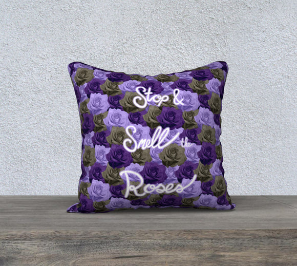 Stop & Smell the Roses Pillow Case - 18