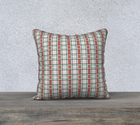 Classic Plaid Pillow Case - 18