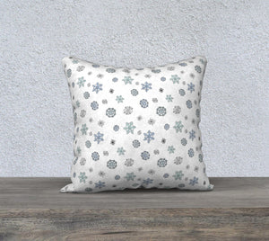 "Snowflakes Pillow Case - 18""x18"""