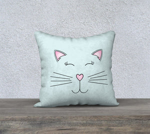 "Pretty Kitty Pillow Case - 18""x18"""