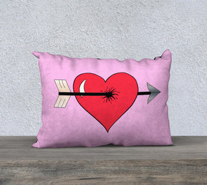 "Struck by Cupid's Arrow Pillow Case - 20""x14"""