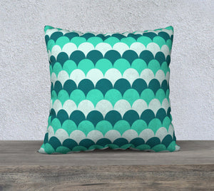 "Mermaid Scales Pillow Case - 22""x22"""