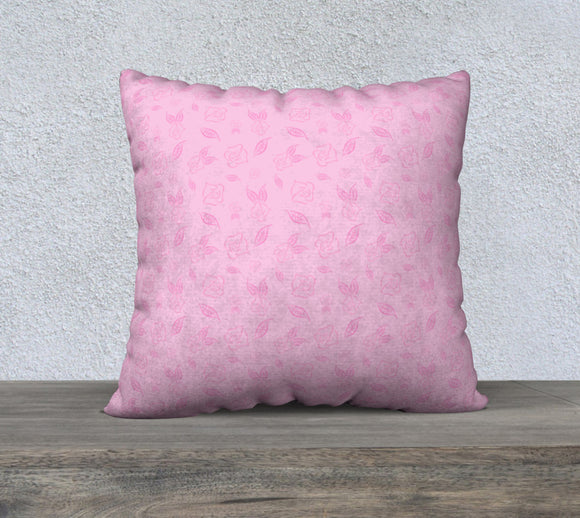 Cartoon Rose Pillow Case - 22