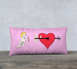 "Struck by Cupid's Arrow Pillow Case - 24""x12"""