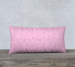 "Cartoon Rose Pillow Case - 24""x12"""
