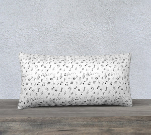 "Listen to the Music Pillow Case - 24""x12"""