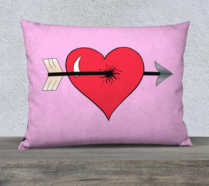 "Struck by Cupid's Arrow Pillow Case - 26""x20"""