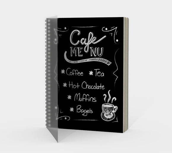 Cafe Menu Spiral Notebook