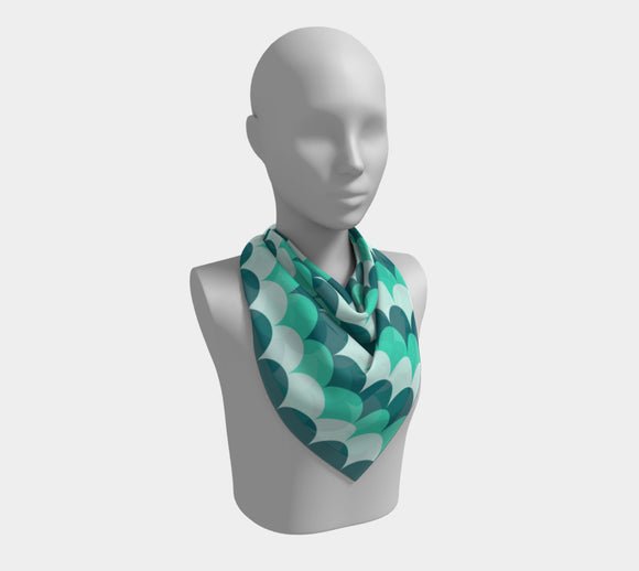 Mermaid Scales Square Scarf