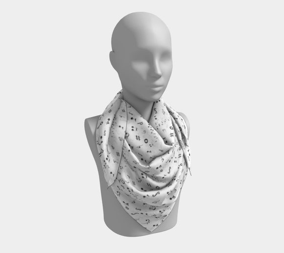 Listen to the Music Square Scarf