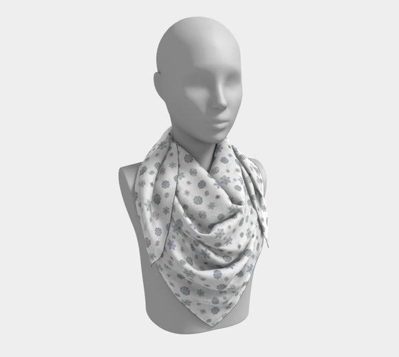 Snowflakes Square Scarf