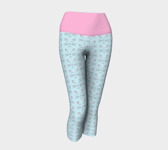 Pretty Kitty Yoga Capris with Pink Band