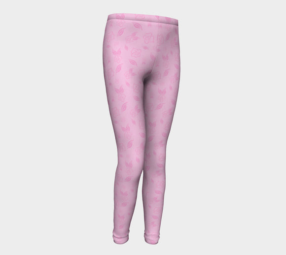 Cartoon Rose Youth Leggings