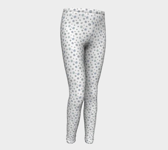 Snowflakes Youth Leggings