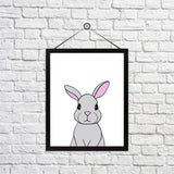 Rosie the Rabbit Print