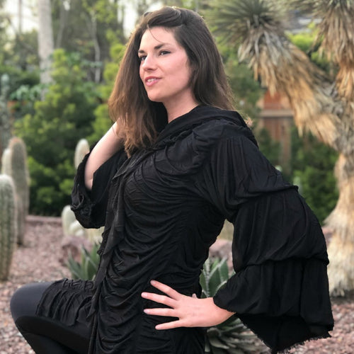 Black Hooded Corset Cloak