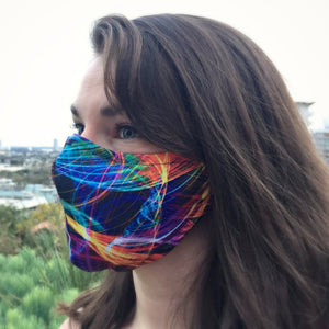 Prana Dust Mask - Blacklight Rainbow Swirl