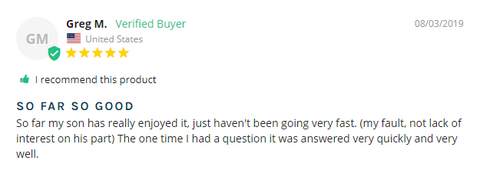 Review from Greg M