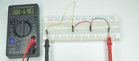 Measuring continuity and resistance with a multimeter