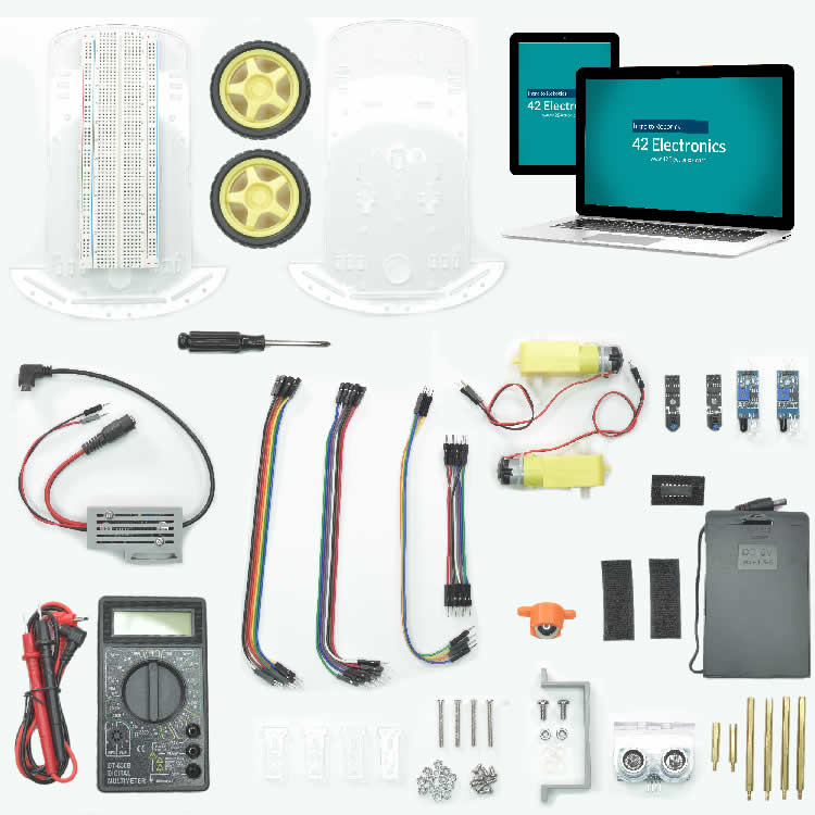 Intro to Robotics Level D Online Course with Equipment Kit