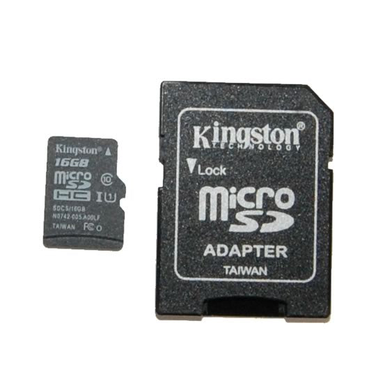 16GB Micro SD with Adapter - Preloaded with Raspbian OS