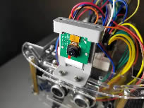 Raspberry Pi camera mounted on mobile robot