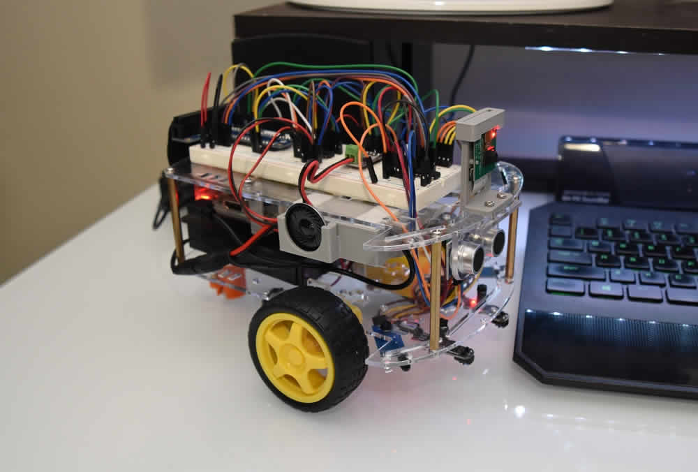 Home Built Python Robot Sitting on Desk
