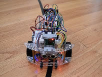 Line following mobile robot, programmed using python code