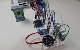 Raspberry Pi and Python Breadboard Circuit with Camera, Speaker, Amplifier, and OLED Screen