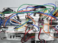 Breadboard wiring for mobile robot