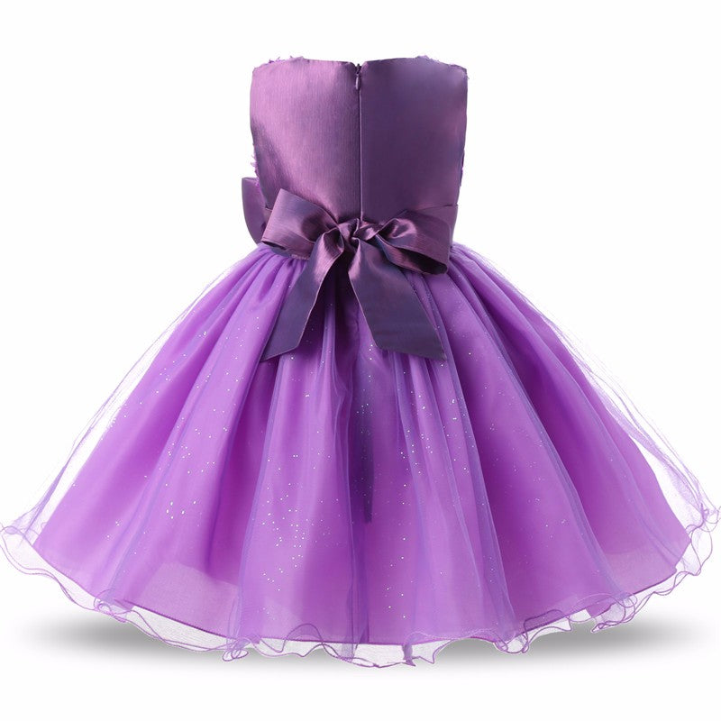 Princess Flower Girl Dress Summer Wedding Birthday Party Dresses For ...