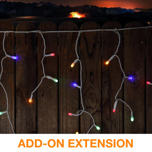 "8mm Mini Globe ""Icicle"" LED Lights Add-on Extension"