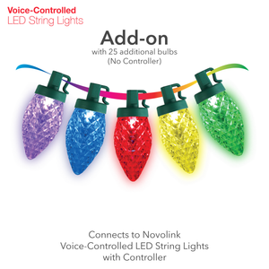 Voice-Controlled LED String Light Add-on, C9 Bulb