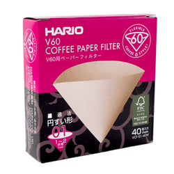Hario V60-01 Brown (40 Pack)