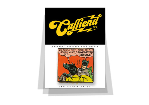 Department of Brewology Caffiend Batman Meme Pin